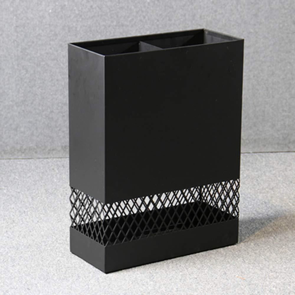 Nero//Bianco Portaombrelli Materiale Ferro//Resistente Hall dellhotel//casa//Sala bancaria//Negozio 30 * 13 * 40cm