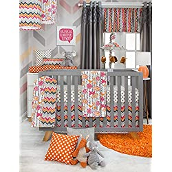 Glenna Jean Sweet Potato Calliope Girl's 3 Piece Set, Tangerine/Orange/Grey/White
