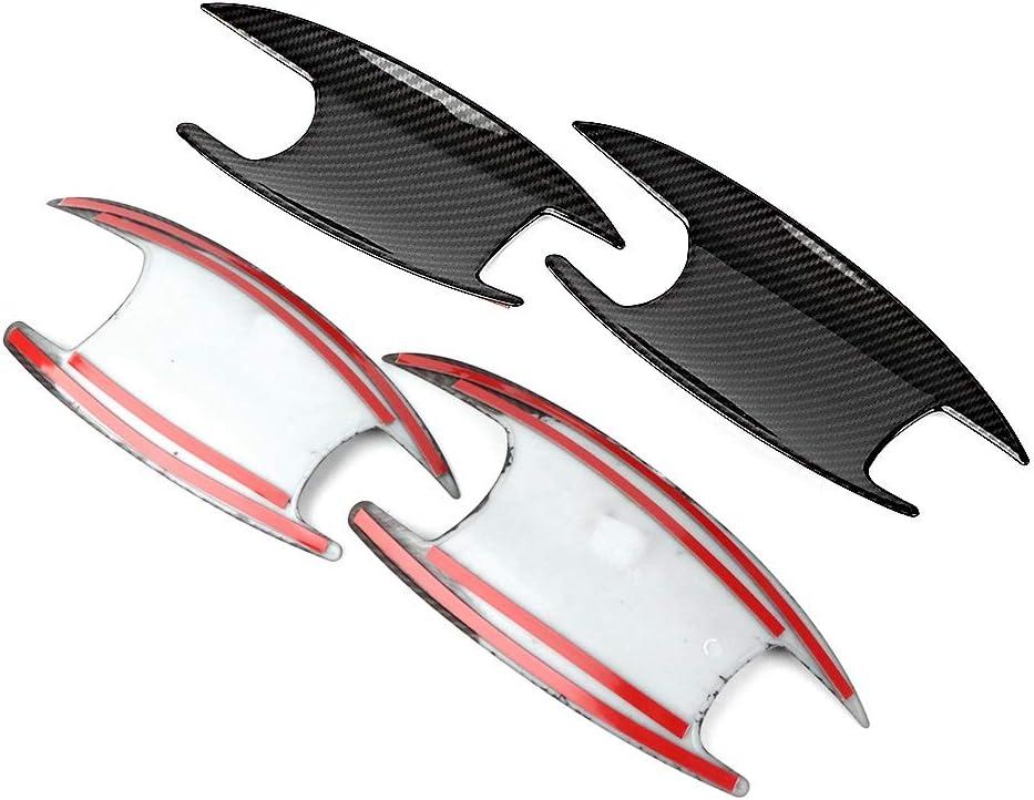4-tlg Carbonfaser-Strukturt/ür Au/ßent/ürgriff-Verschlusskappen Passend f/ür B Klasse W247 2020 Au/ßent/ürgriff-Verschlusskappen