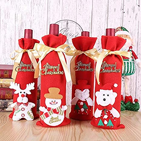 Creative Christmas Gifts.Buy Decorative Buckets Christmas Decorations Wine Bottle
