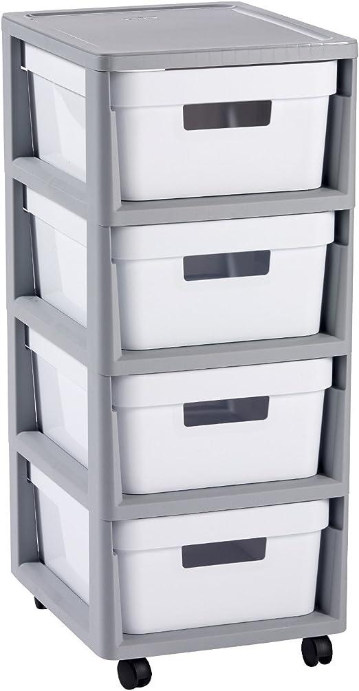 CURVER Infinity 4 x 10L Carrito con Cuatro cajones Roll Container ...