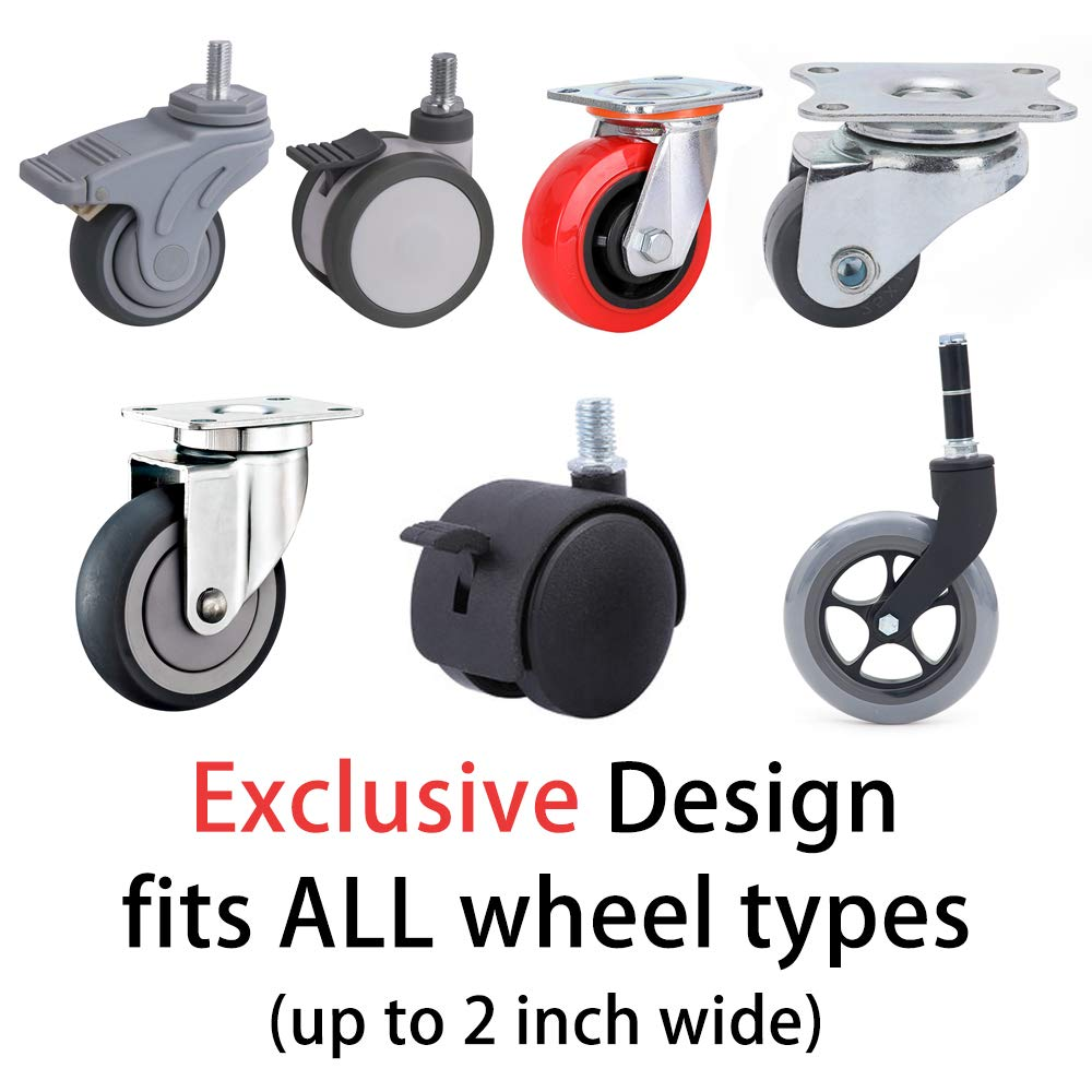 CGBOOM Furniture Cups Wheel Stoppers 2 Inch Furniture Coasters 4 PCS Floor Protector Round Rubber Caster Cups Non Skid Rubber Grip Coffee Brown Bed /& Furniture Stopper for Wide Range of Floor /& Wheels