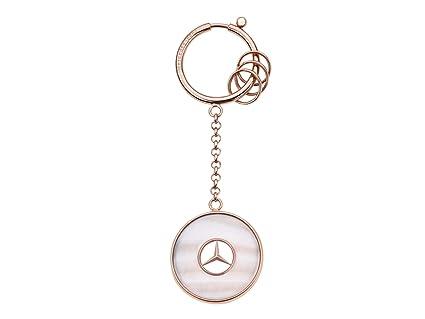 MB Llavero de Mercedes Benz de Color Oro Rosa, Acero ...