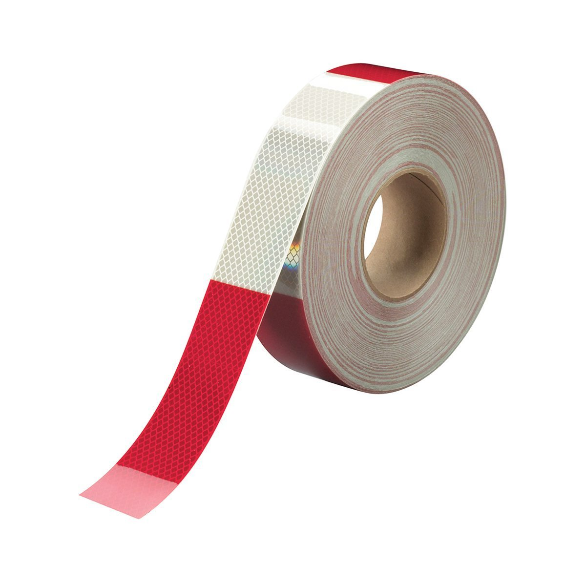 2'' X 50 Yds 6'' Red/6'' White, 3m Diamond Grade Conspicuity Tape Series 983, DOT-C2 rated