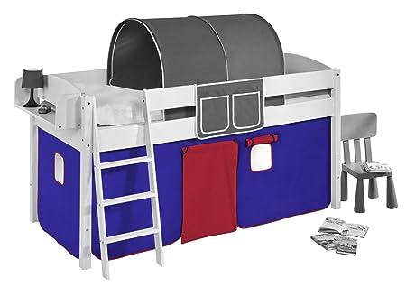 Etagenbett Vorhang Auto : Vorhang blau rot für hochbett spielbett und etagenbett amazon