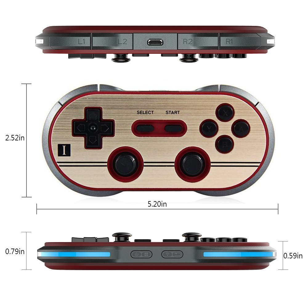 8Bitdo F30 Pro Wireless Bluetooth Controller Game Gamepad Retro Styled for Android / MacOS / Windows by RunSnail (Image #6)