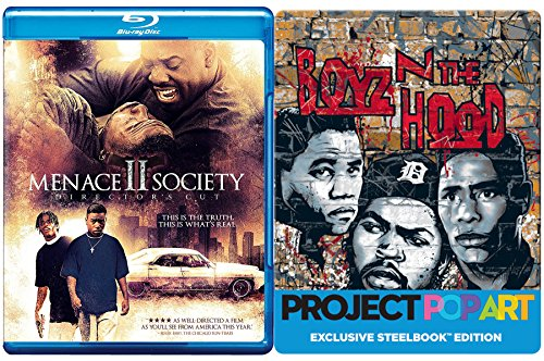 Boys N Da Hood Steelbook Edition & Menace II Society 2 Blu Ray Double Feature Bundle Crime Action Movie Set
