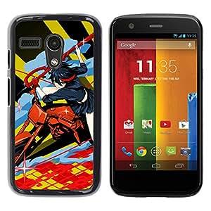 YiPhone /// Prima de resorte delgada de la cubierta del caso de Shell Armor - Motos Anime - Motorola Moto G 1 1ST Gen