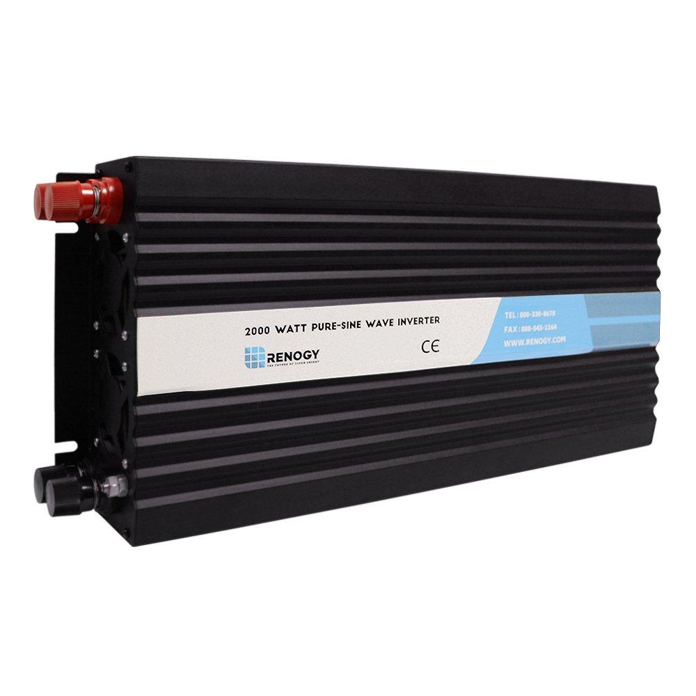 Renogy 2000W 12V Off-Grid Pure-Sine Wave Battery Inverter w/ Cables