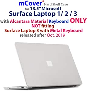 iPearl mCover Hard Shell Case for 13.5-inch Microsoft Surface Laptop (3/2 / 1) Computer (NOT Compatible with Surface Book and Tablet) (Clear)
