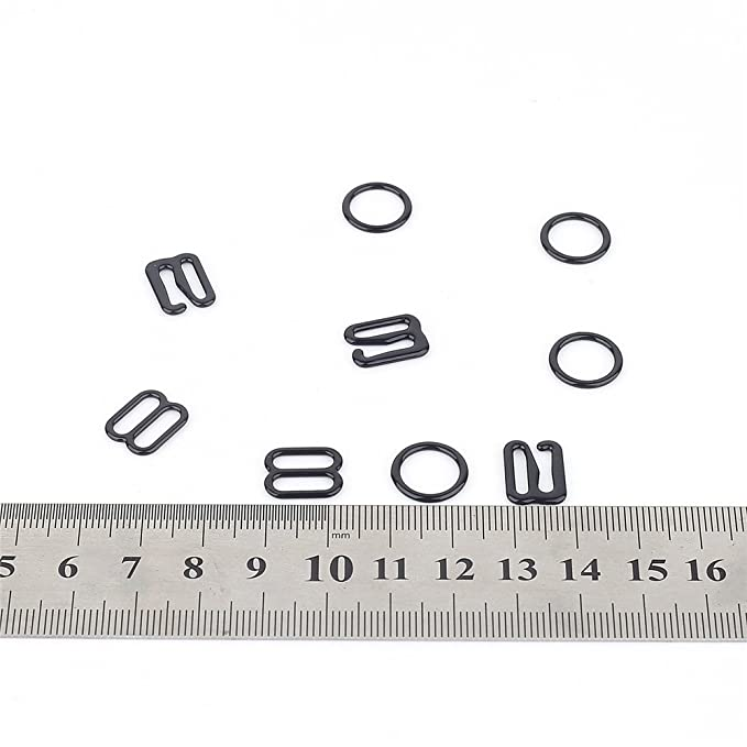 Amazon.com: 30 Sets Nylon Coated Metal Lingerie Adjustment strap slides Hardware Sewing Clips Clasp Hooks for Bra Strp (10mm, white)