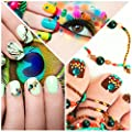 Pangda 9000 Pieces 4 Size 12 Colors Nail Art Rhinestones Set with 4 Boxes Nail Gems and Pick up Tweezer