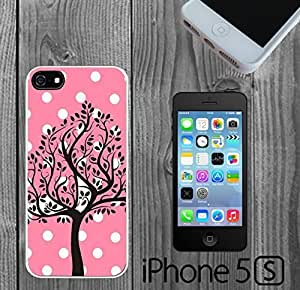 Beautiful Tree on Pink Polka Dots Custom made Case/Cover/skin FOR iPhone 5/5s
