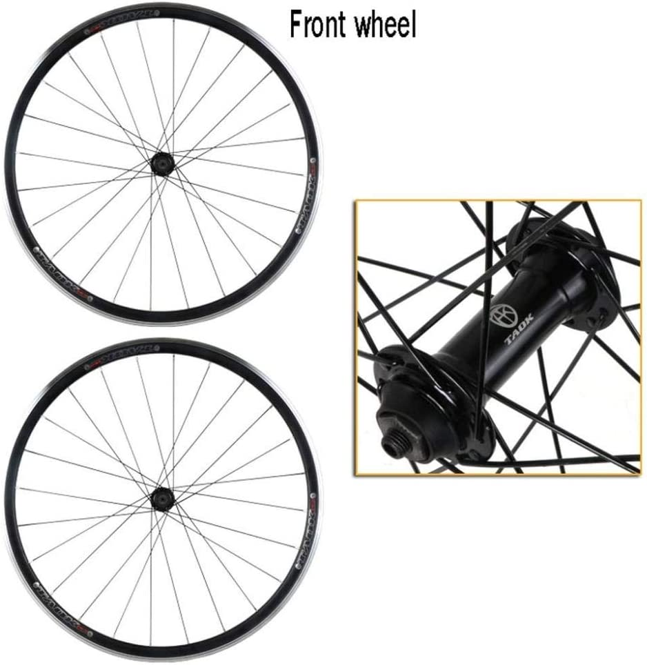 LIMQ Wheelsets 700C Road Bike Quick Release Bicycle Aluminum Alloy Double Walled Rim V Brake 7-10 Speed Card Flywheel 32H,Front+rear