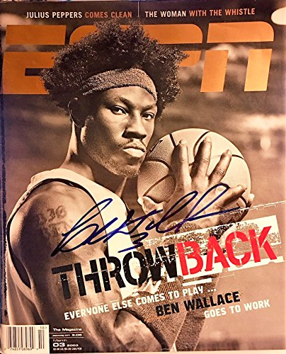 ESPN The Magazine March 3, 2003 BEN WALLACE (Autographed) Throwback