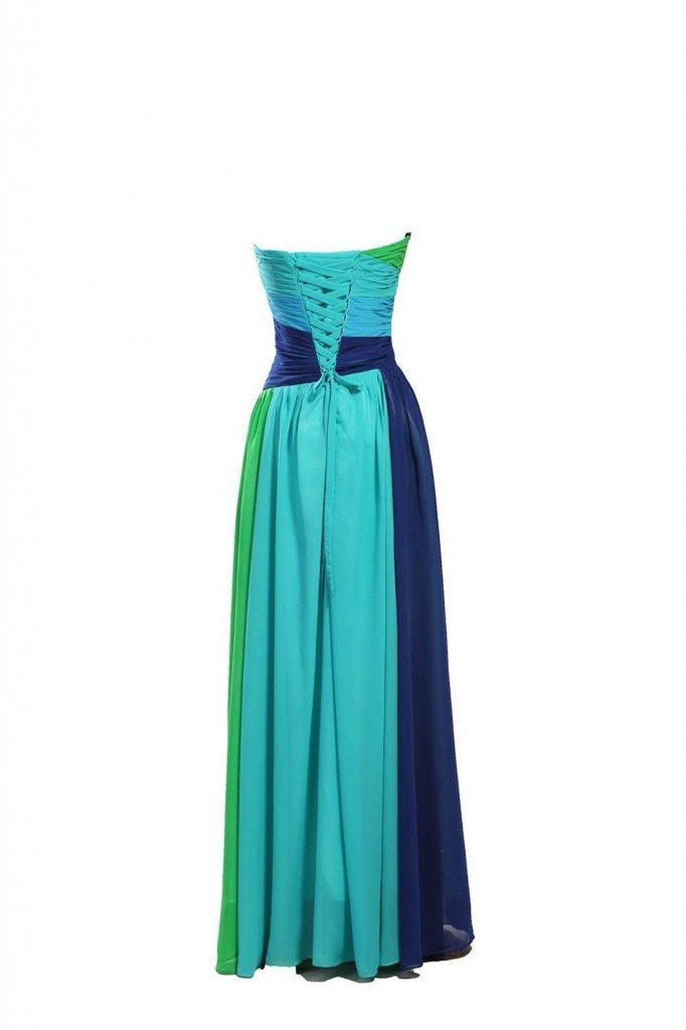 Dormencir Women's Rhinestone Colorful Long Bridesmaid Prom Evening Dresses (12) by Dormencir (Image #2)