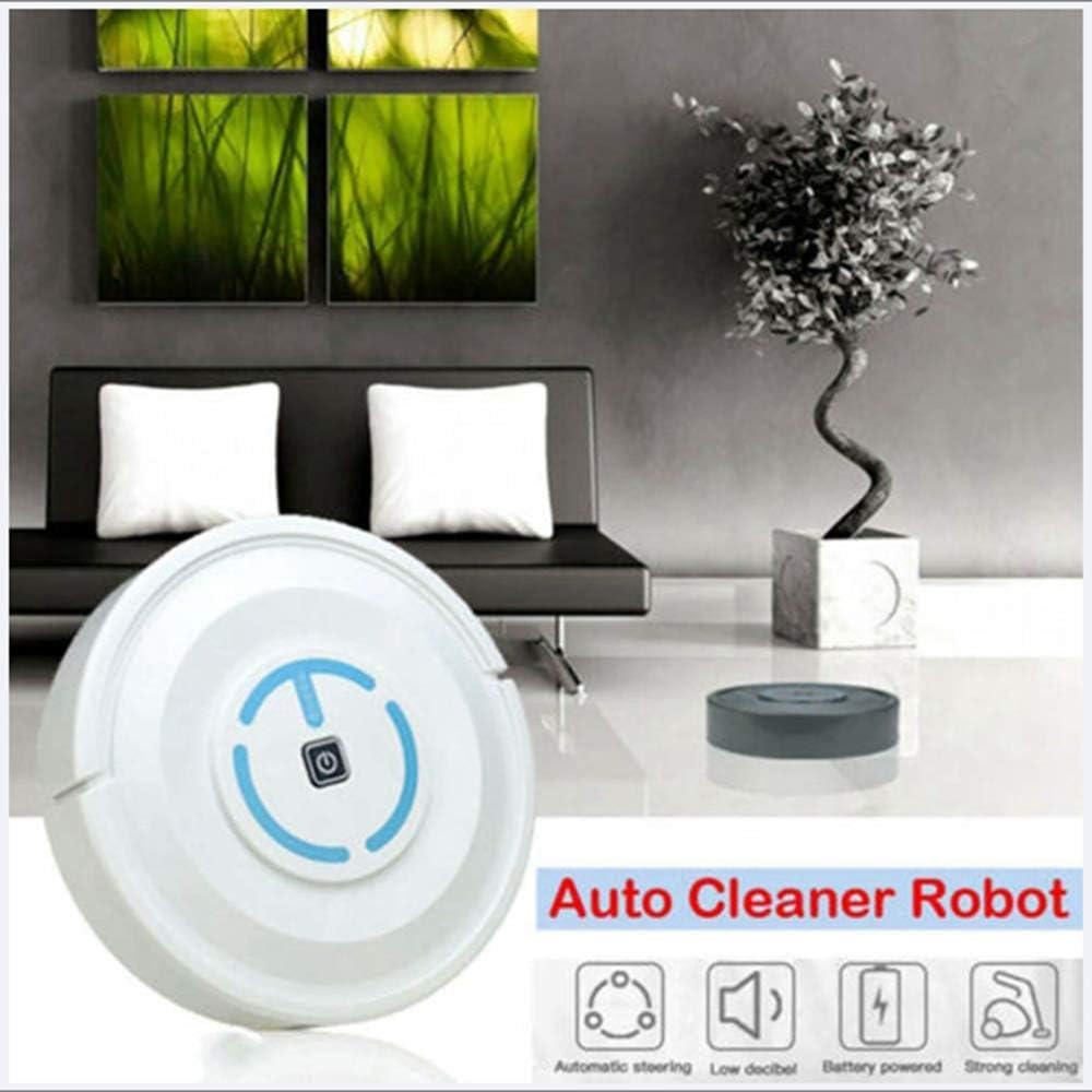 Aspirateur Robot, Robot Accueil Pleine Automatique Aspirateur Robot Mini Aspirateur Appareils Ménagers Sweeper Charge Câble USB Blue