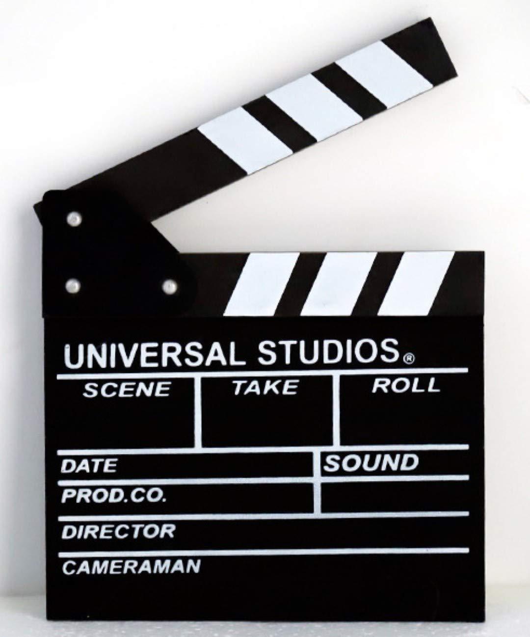 Dry Erase Movie Hollywood Clapboard Director Film Movie Clapper Board Slate … (Black, Lage)