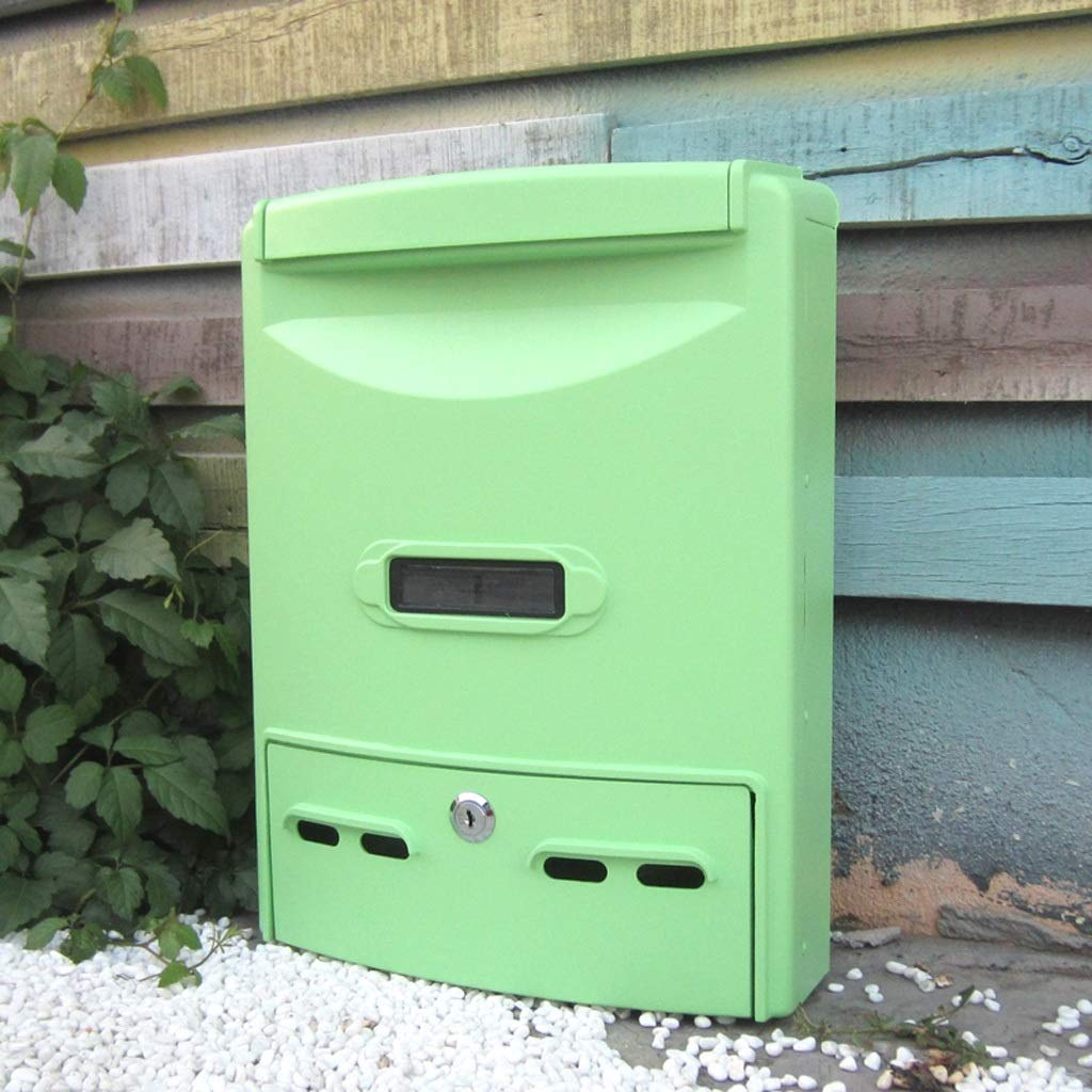 HLJ 大容量の屋外壁掛け郵便箱シンプルなヨーロッパの郵便箱クリエイティブファッションメールボックス   B07J4NPCSZ