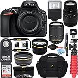Nikon D5600 24.2MP DX-Format DSLR Camera + AF-S 18-140mm ED VR & Sigma 70-300mm Macro Telephoto Lens + Accessory Bundle