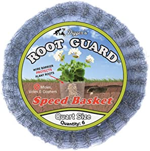 Digger's RootGuard 1-Quart Gopher Wire Speed Baskets (Pack of 6) – Eco-Friendly Gopher Baskets Made For Fast & Safe Installation – Effective Vole & Gopher Repellent