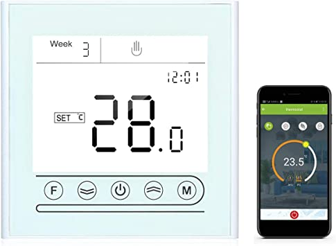 Tuya WiFi LCD Smart Thermostat Programmable APP Control for Alexa Google Home