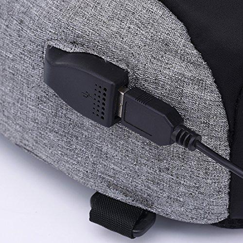 hombre al para hombro TOYIS Bolso backpack morado 1fqwX0Fx