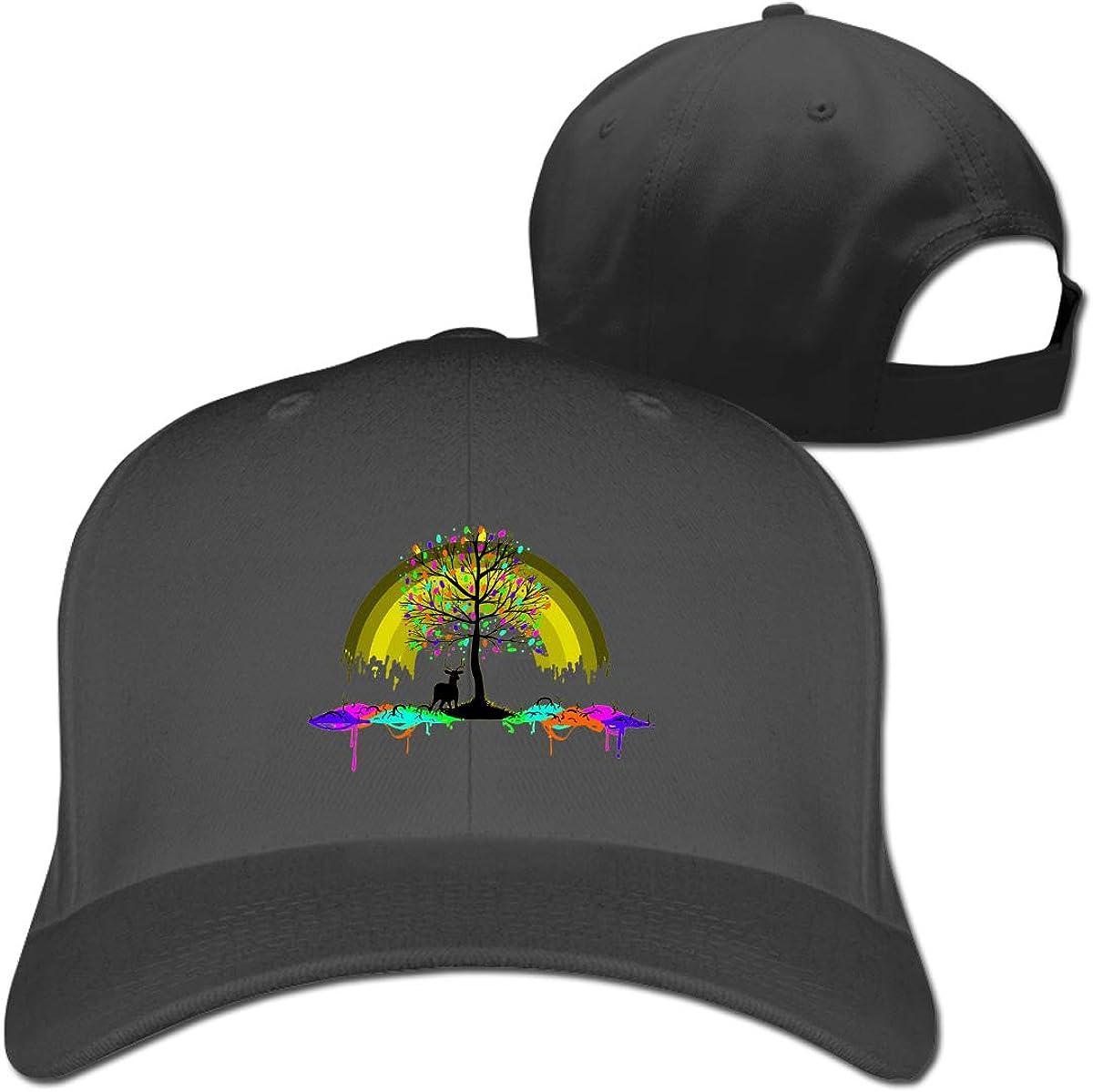 Rainbow Elk Fashion Adjustable Cotton Baseball Caps Trucker Driver Hat Outdoor Cap Black