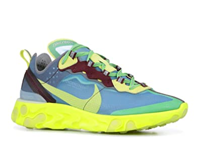 8bd88dd7cc88 Nike Mens React Element 87 X Undercover Lakeside Electric Yellow Synthetic  Size 4.5