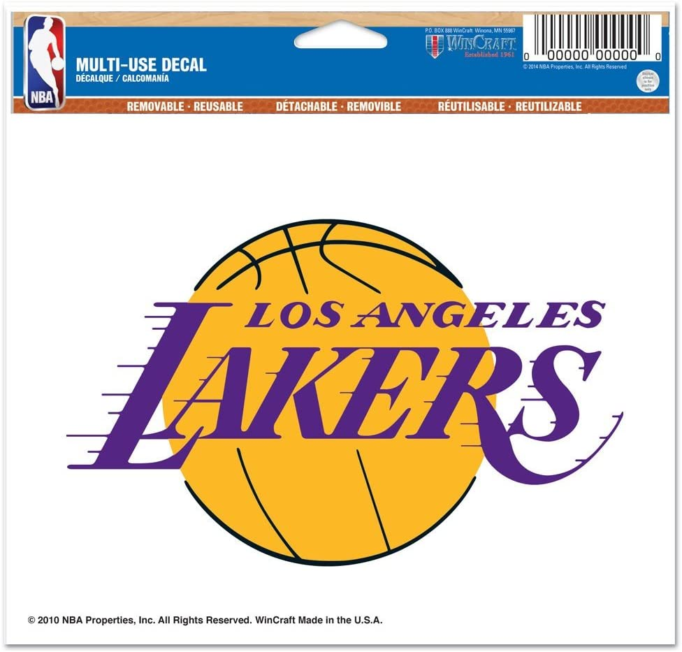 """WinCraft NBA Los Angeles Lakers Multi-Use Colored Decal, 5"""" x 6"""""""