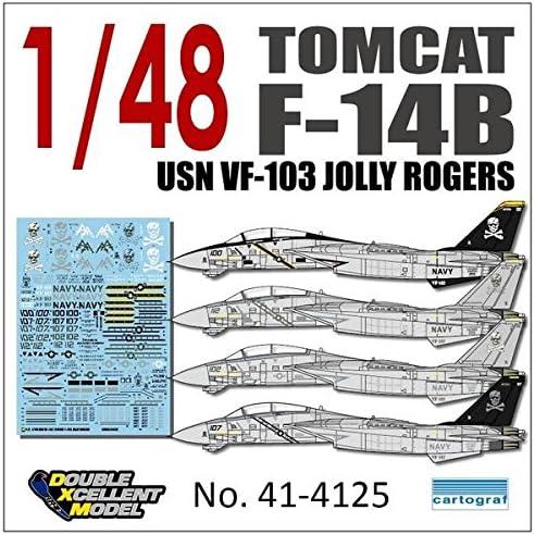 DXMデカール DXM-41-4125 1/48 アメリカ海軍 F-14B VF-103 ジョリーロジャーズ