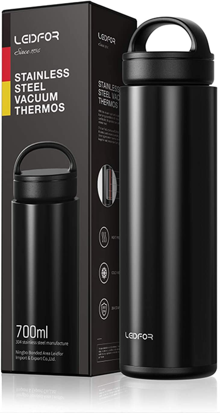 Stainless Steel Thermos Cup Vacuum Insulated Water Bottle Coffee Mug W// Cover