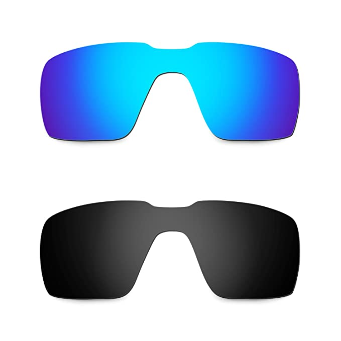 35a50ecee6f Hkuco Mens Replacement Lenses For Oakley Probation Sunglasses Blue Black  Polarized
