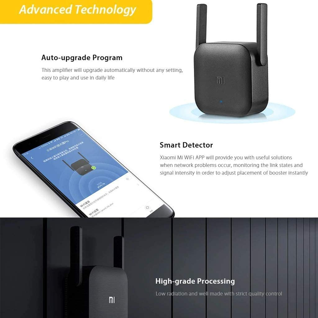 Xiaomi WiFi Amplifier Pro- 2 External Antennas, 300Mbps Data Transfer Rate, Supports 64 Devices, Plug and Play, Router Inalámbrico(Edición ...