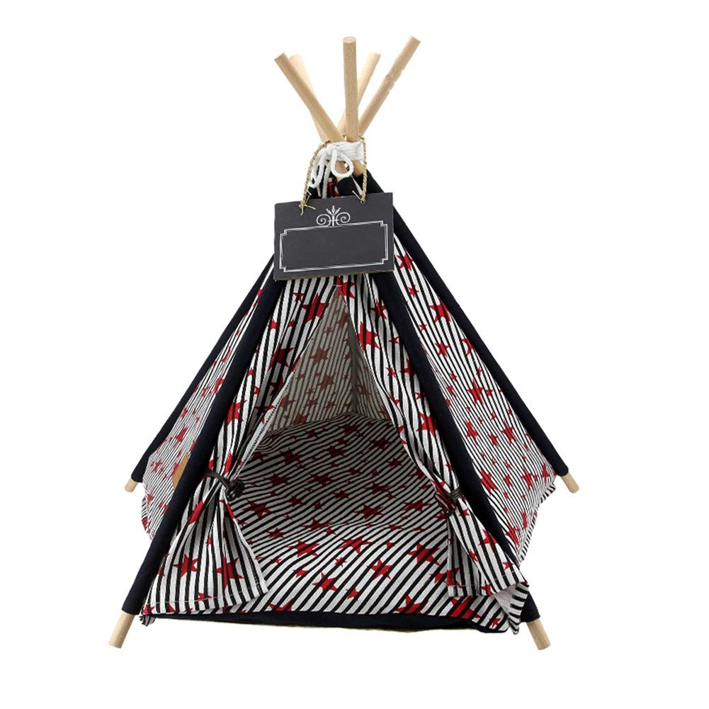 3(with pad) L 3(with pad) L Dog Teepee, Detachable Pet Nest for Small and Medium Dogs Pet Tent (color   3(with pad), Size   L)