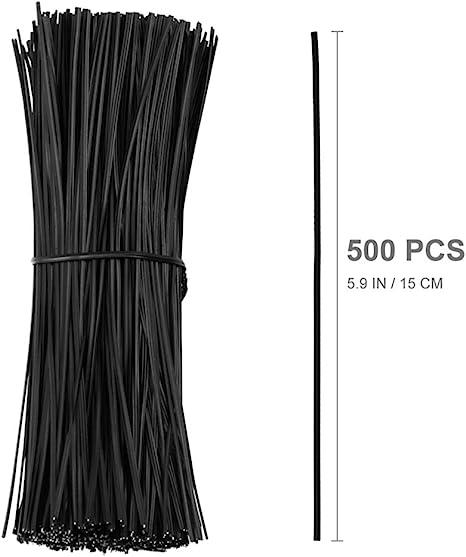 500 pcs Durable 15cm Flexible Twist Ties Cable Organizer for Crafts