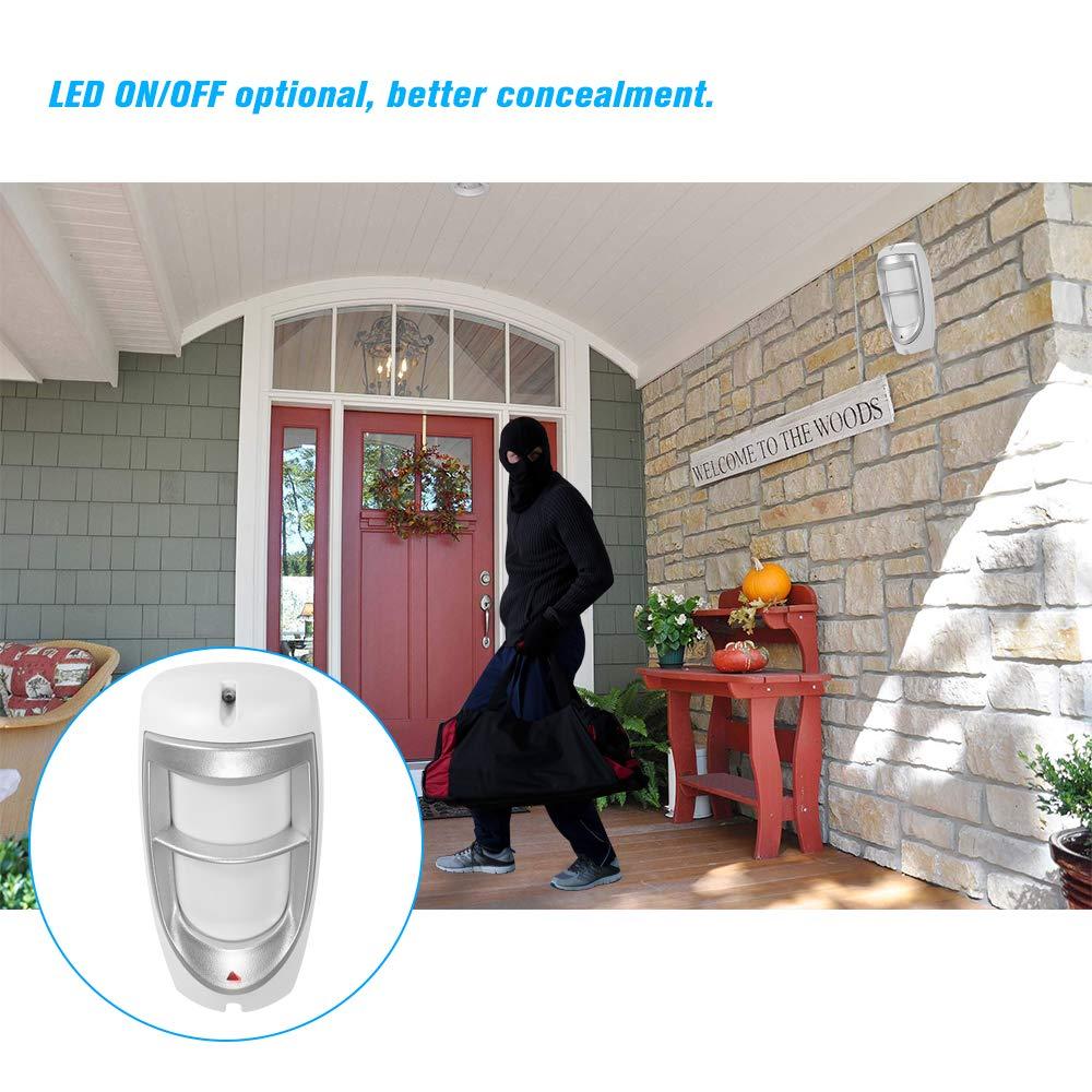 ZH-8850 OWSOO D/étecteur Infrarouge Anti-Pet Filaire,Alarme Anti-Intrusion PIR Ext/érieur,Double Capteur//D/étecteur Danalyse Num/érique Intelligent,Protection Contre la Foudre//Protection Pluie Mod/èle