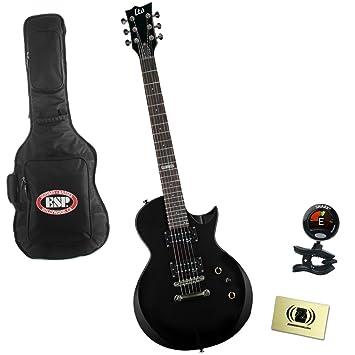 Esp Ltd lec10kitblk eléctrico guitarra paquete con bolsa de concierto, sintonizador, y paño de pulido - color negro: Amazon.es: Instrumentos musicales