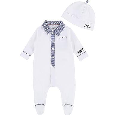 eaf6a6bb69a00 Hugo Boss Ensemble pyjama et bonnet Bébé - J98222-10B - 12M  Amazon ...