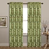 United Curtain Jewel Woven Window Panel, 54 by 63″, Green, 54″ X 63″