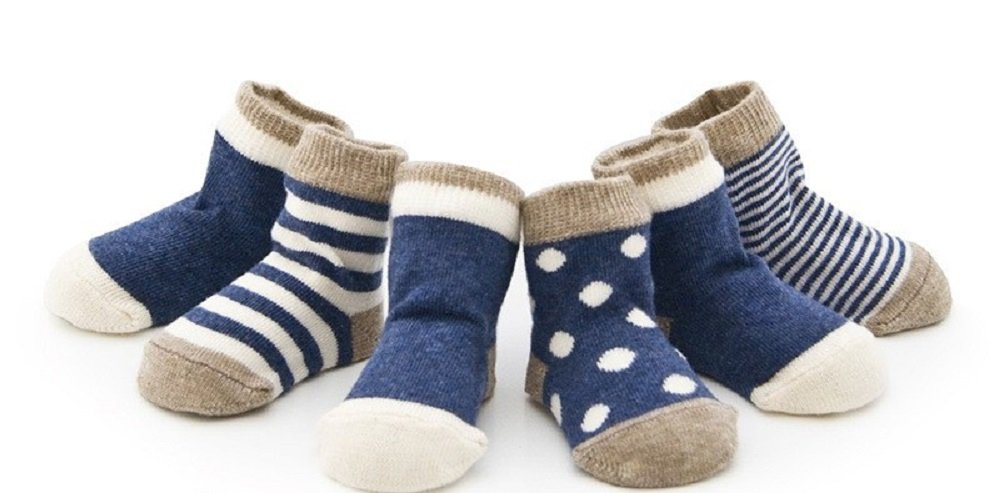 LucyJacks Baby Boy Cotton Socks 5 pair Gift Box - to Fit Newborns, Infants and Toddlers. Assorted Mix of Patterns and Sizes - Suitable for Age Range: 0-36 Months. Perfect Gift Idea