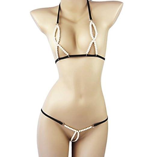 bikini Beaded crotchless