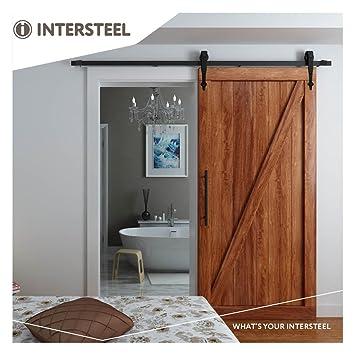 Favorit intersteel Basic matt schwarz Schiebetür System für Barn Holz Tür CB59