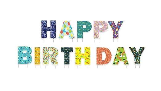 Cartel de feliz cumpleaños para patio con texto en inglés ...