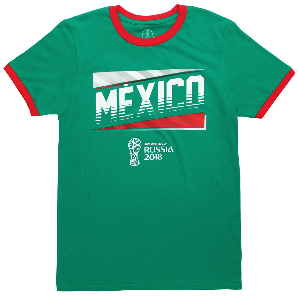 d18f63519ac Amazon.com  Fifth Sun World Cup 2018 Mexico Ringer Adult T-Shirt  Clothing