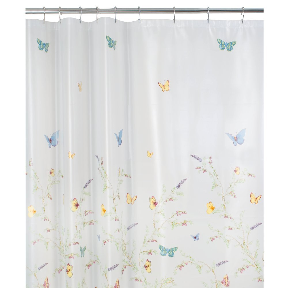 Garden flight butterfly eva shower curtain bedbathhome com - Amazon Com Maytex Garden Flight Peva Shower Curtain Butterfly Multi Home Kitchen