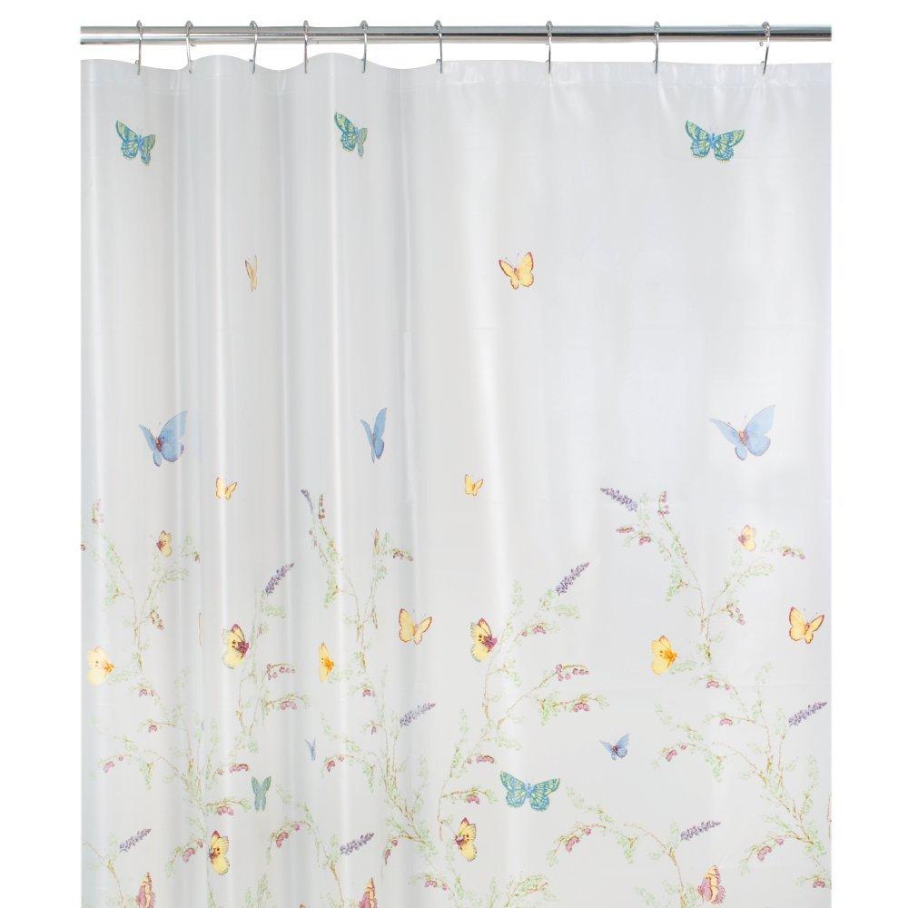 Amazon: Maytex Garden Flight Peva Shower Curtain(butterfly), Multi:  Home & Kitchen