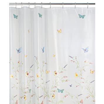 Curtains Ideas butterfly shower curtain : Amazon.com: Maytex Garden Flight PEVA Shower Curtain(Butterfly ...