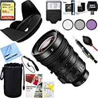 Sony SELP18110G E PZ 18-110mm APS-C/Super 35mm F4 G OSS E-mount Power Zoom Lens + 64GB Ultimater Filer & Flash Photography Bundle