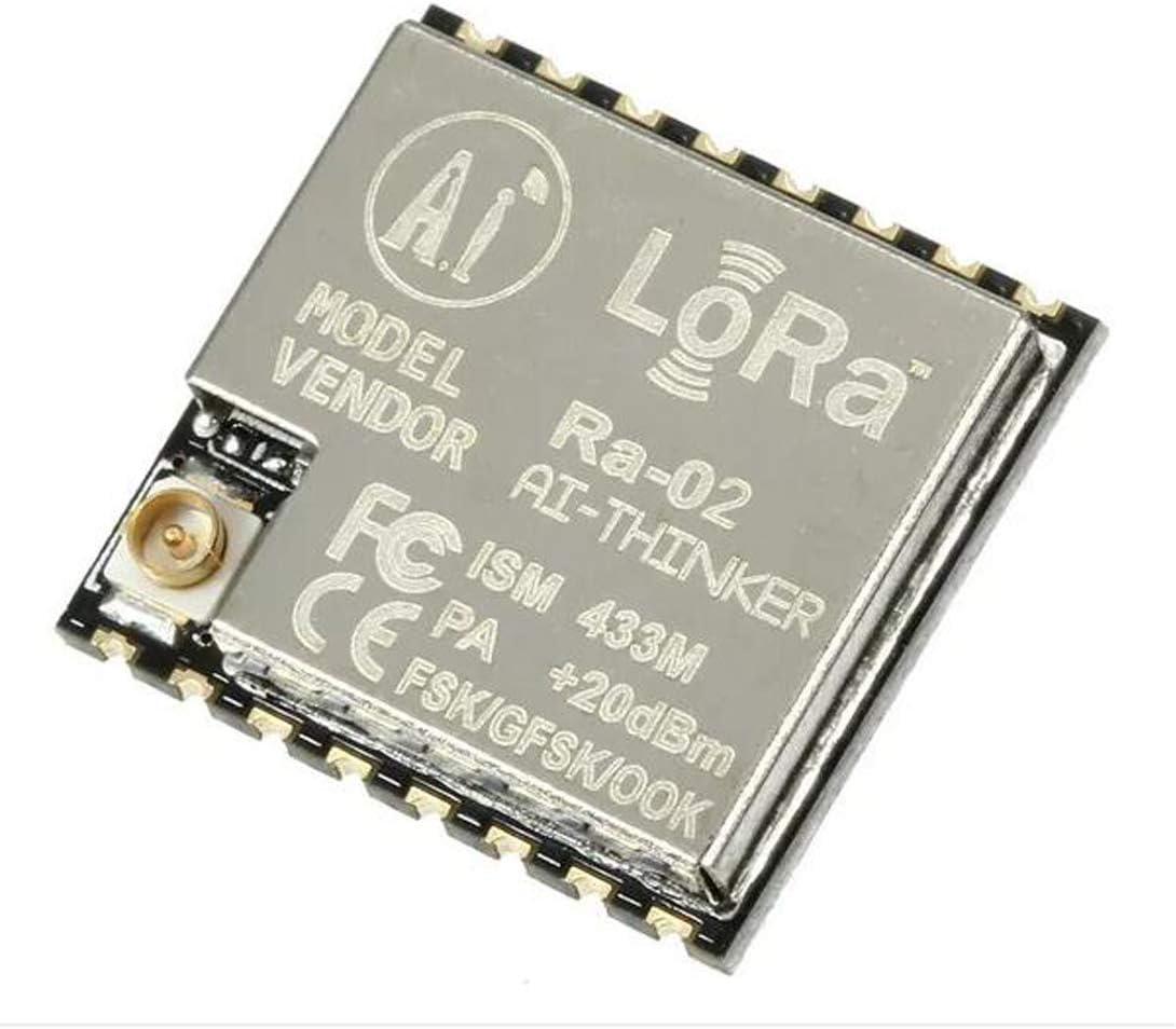 HiLetgo 2PCS Ra-02 SX1278 LoRa Spread Spectrum Wireless Module 433MHz Wireless Serial Port UART Interface Ultra Far 10KM